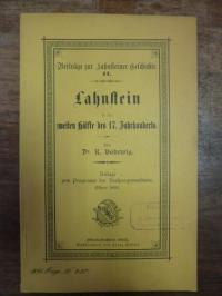 Lahnstein / Lepsius, Lahnstein in der zweiten Hälfte des 17. Jahrhunderts ,