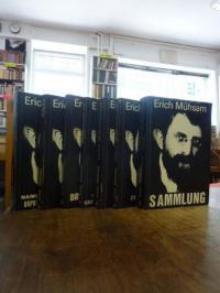 Mühsam, Erich Mühsam-Konvolut mit 7 Bänden (von insg. 9),