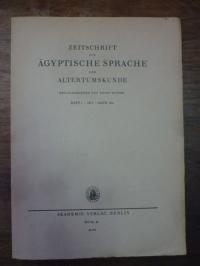 Hintze, Zeitschrift für ägyptische Sprache und Altertumskunde [ZÄS], Band 104, 1