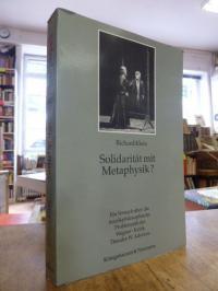 Adorno, Solidarität mit Metaphysik? – Ein Versuch über die musikphilosophische P