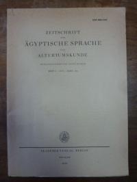 Hintze, Zeitschrift für ägyptische Sprache und Altertumskunde [ZÄS], Band 106, 1