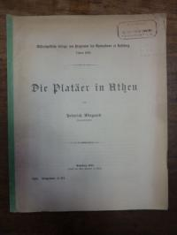 Wiegand, Die Platäer in Athen,
