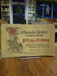 XI. Deutsches Turnfest Frankfurt a.M. 1908 – Festzug-Ordnung – Einzig autorisier