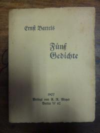 Bartels, Fünf Gedichte,
