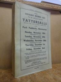 Tattersalls, Newmarket December Sales to be sold by Auction by Tatters
