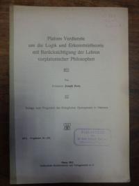 Dorn, Platons Verdienste um die Logik und Erkenntnistheorie mit Berücksichtigung