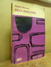 Horney, Self-Analysis,