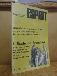 Thibaud, ESPRIT n° 5, Mai 1978: Libération et la génération de 68: un entretien