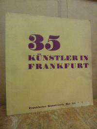 Frankfurter Kunstverein, 35 Künstler in Frankfurt, (mit dem Errata-Zettel!),