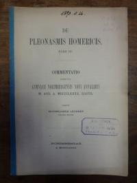 Lechner, De Pleonasmis Homericis,
