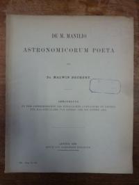 Bechert, De M. Manillo Astronomicorum Poeta,