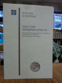 Schröder, Text und Interpretation III: Zur Kunstanschauung Gottfrieds von Straßb