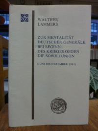 Lammers, Zur Mentalität deutscher Generäle bei Beginn des Krieges gegen die Sowj