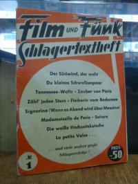 Film und Funk – Schlagertextheft, Nr. 1,