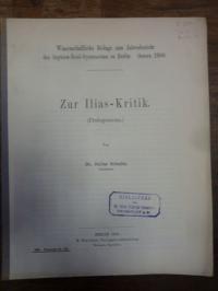 Schultz, Ilias kritik