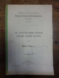 Freytag, De Anonymi Peri Hypsous Sublimi Genere Dicendi,