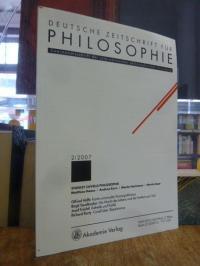 Honneth, Deutsche Zeitschrift für Philosophie – Zweimonatsschrift der internatio