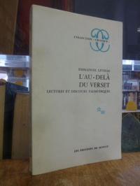 Lévinas, L'au-delà du verset – Lectures et discours talmudiques,