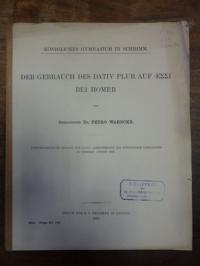 Homer / Warncke, Der Gebrauch des Dativ Plur. auf