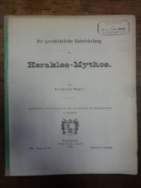 Hager, Die geschichtliche Entwicklung des Herakles-Mythos,