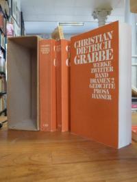 Grabbe, Werke in 3 Bänden: Dramen/Gedichte und Prosa/Kommentarband (3 Bände = al