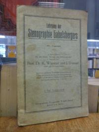 Wimmer, Lehrgang der Stenographie Gabelsbergers – In kurzer Fassung für den Schu