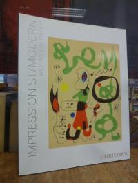 Christie's New York Auktionskatalog, Impressionist and Modern Works on Paper, Ma