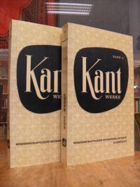 Kant, Werke in zehn Bänden, Band 3 und 4: Kritik der reinen Vernunft, 2 Bände,