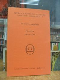 Platon, Der Staat in Auswahl (auf Vorderdeckel: 'Vorbeitungsheft zu Platon Der S