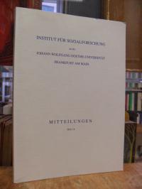 Institut für Sozialforschung (Hrsg.) Mitteilungen, Heft 14, 2003,