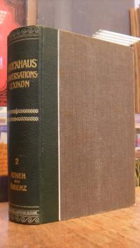 Brockhaus (14. Auflage), Brockhaus' Konversations-Lexikon,  Zweiter (2.) Band: A