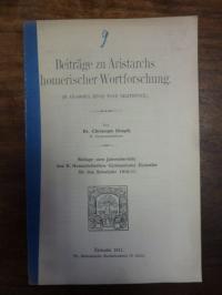 Dimpfl, Beiträge zu Aristarchs homerischer Wortforschung,