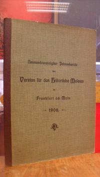 Verein für das Historische Museum zu Frankfurt am Main, Neunundzwanzigster (29.)