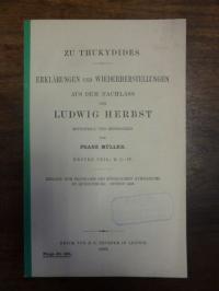 Müller, Zu Thukydides – Erklärungen und Wiederherstellungen aus dem Nachlass von