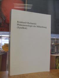 Olschanski, Phänomenologie der Mißachtung – Studien zum Intersubjektivitätsdenke