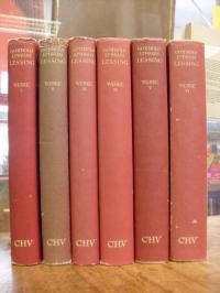 Lessing, Werke, Band 1 bis 6, 6 Bände (von insg. 8),