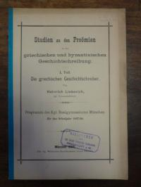 Lieberich, Studien zu den Proömien in der griechischen und byzantinischen Geschi