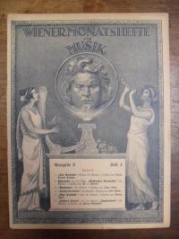 Töpfner, Wiener Monatshefte für Musik – Zeitschrift für Musik, Musikliteratur, T