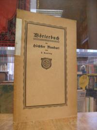 Reuting, Wörterbuch der Höchster Mundart,