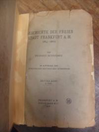 Schwemer, Geschichte der Stadt Frankfurt a. M. (1814-1866), Dritter (3.) Band, I