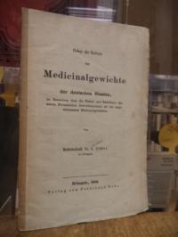 Köhler, Ueber die Reform der Medicinalgewichte der deutschen Staaten im Besonder