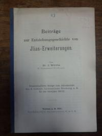 Wölfle, Beiträge zur Entstehungsgeschichte von Ilias-Erweiterungen,