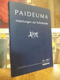 Hardenberg, Paideuma – Mitteilungen zur Kulturkunde, Band 63 – 2017,