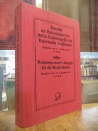 Protokoll der Verhandlungen des Ersten Reichskongresses der Betriebsräte Deutsch