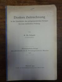 Schmitt, Diodors Zeitrechnung in der Geschichte des peleponnesischen Krieges bis