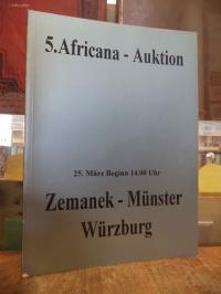 Afrika / Auktionskatalog, 5. Africana-Auktion, 25. März 1995,
