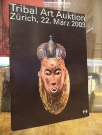 Auktionskatalog Africana, Tribal art Auktion, Zürich, Samstag, 22. März 2003,