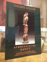 Auktionskatalog / Africana, Afrika [Afrikanische Kunst] – Auktion, 6. Dezember 2