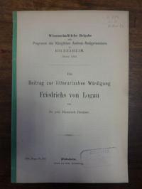 Denker, Ein Beitrag zur litterarischen Würdigung Friedrichs von Logau,