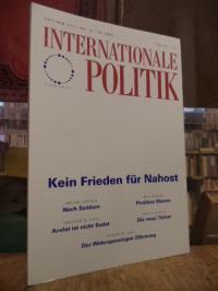 Deutsche Gesellschaft für Auswärtige Politik, Internationale Politik, Nr. 10, Ok